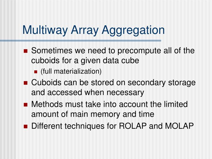 Multiway Array Aggregation