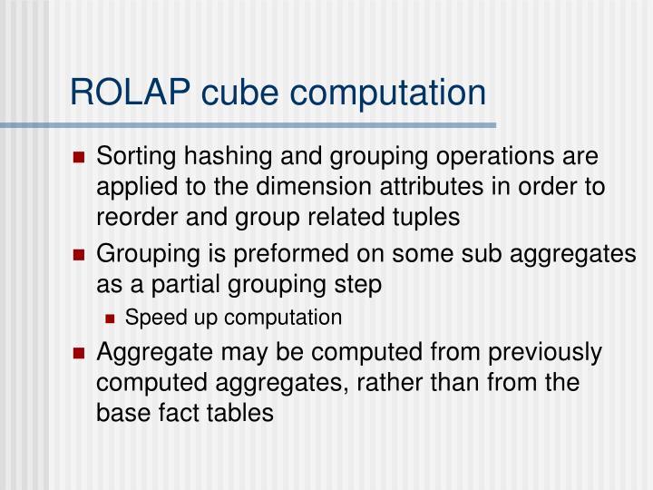 ROLAP cube computation