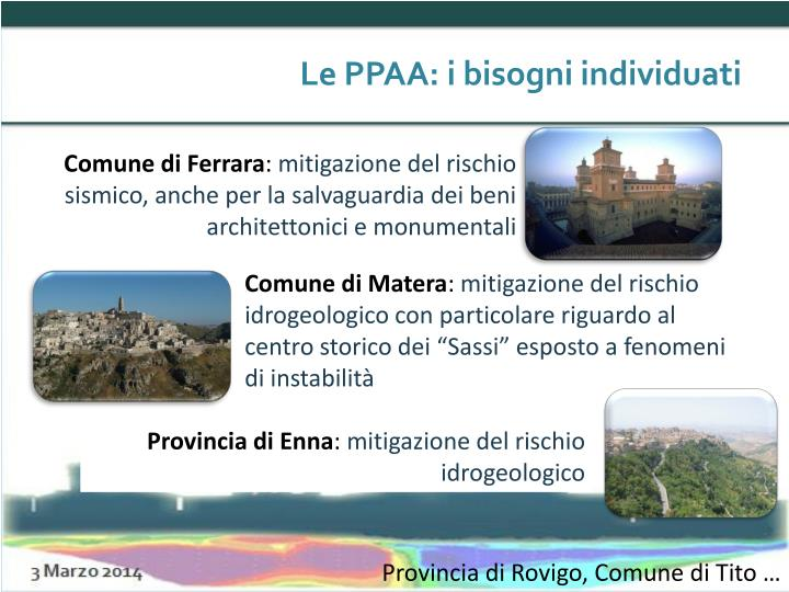 Le PPAA: i bisogni individuati