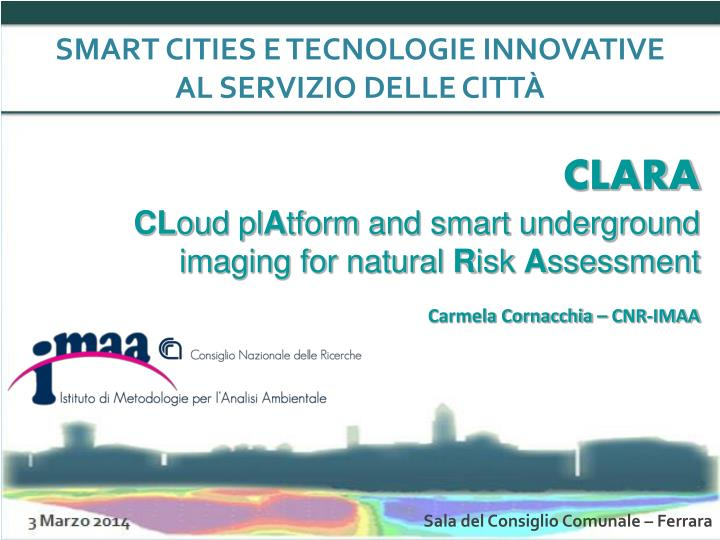 SMART CITIES E TECNOLOGIE INNOVATIVE