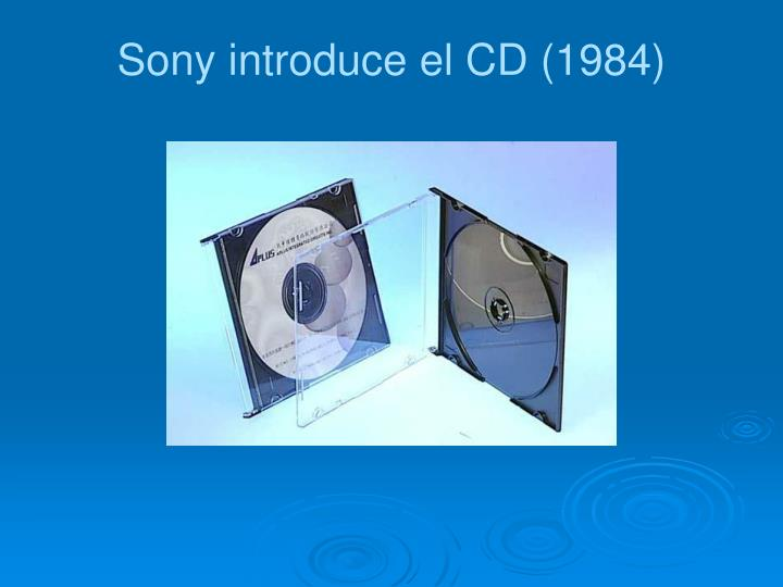 Sony introduce el CD (1984)