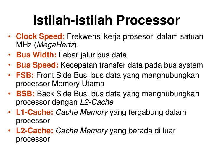 Istilah-istilah Processor