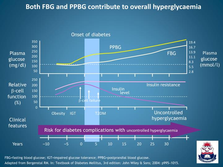 Both FBG and PPBG contribute to overall hyperglycaemia