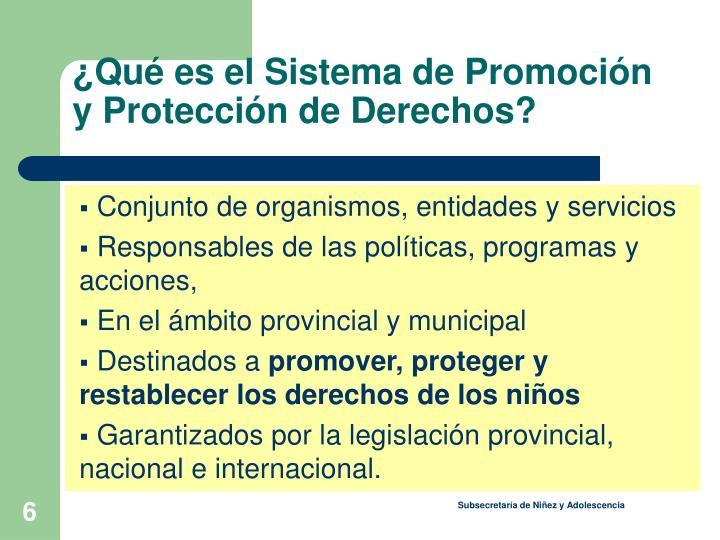 ¿Qué es el Sistema de Promoción y Protección de Derechos?