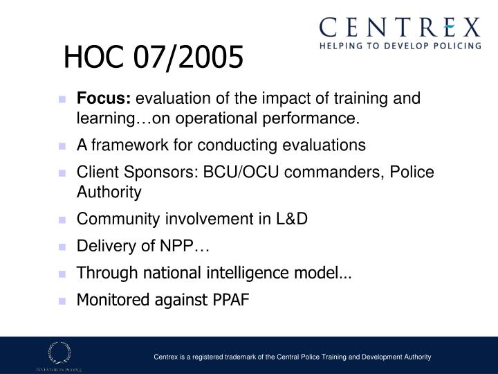 HOC 07/2005
