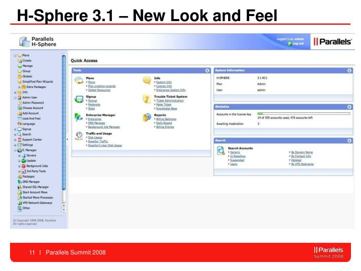 H-Sphere 3.1 – New Look and Feel