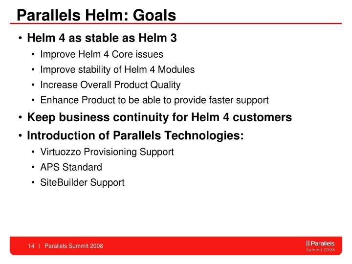 Parallels Helm: Goals