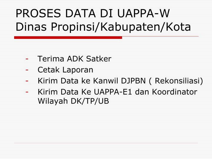 PROSES DATA
