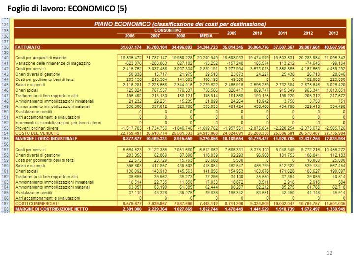 Foglio di lavoro: ECONOMICO (5)