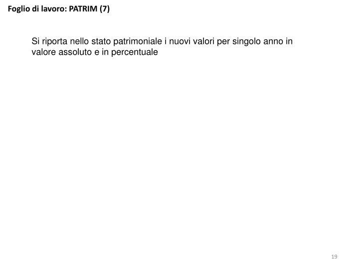 Foglio di lavoro: PATRIM (7)