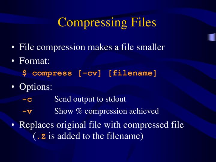 Compressing Files