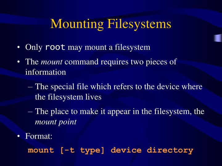Mounting Filesystems