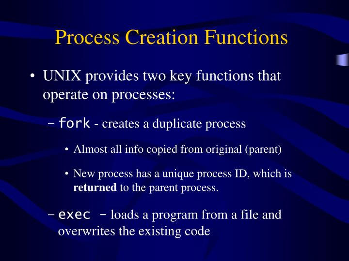 Process Creation Functions