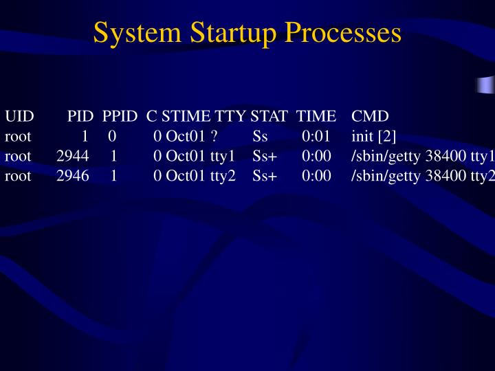 System Startup Processes