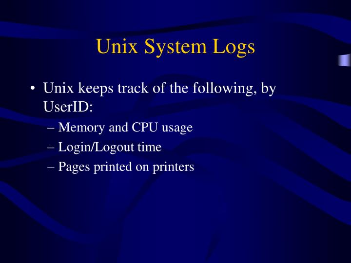 Unix System Logs