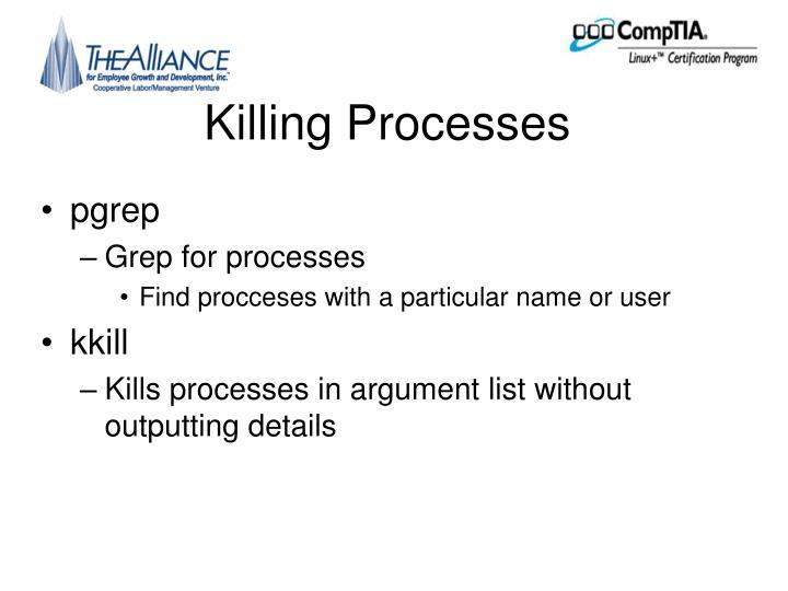 Killing Processes