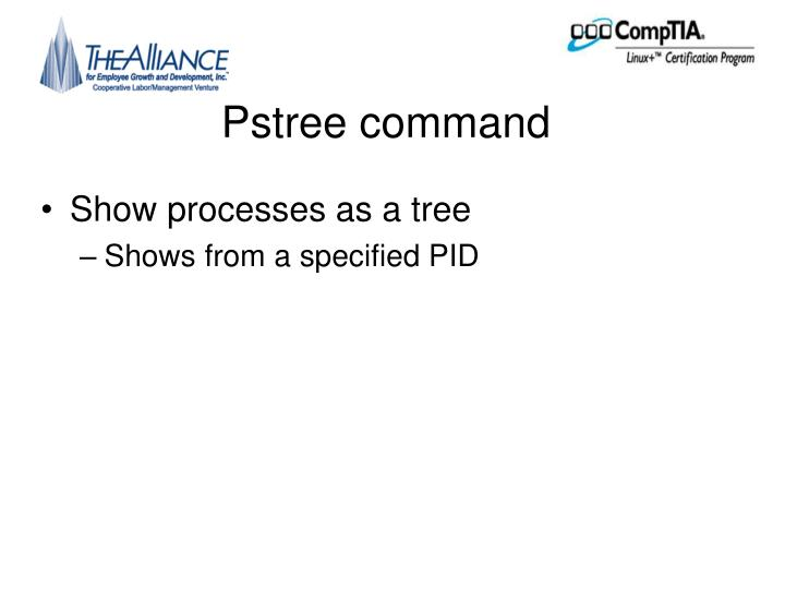 Pstree command