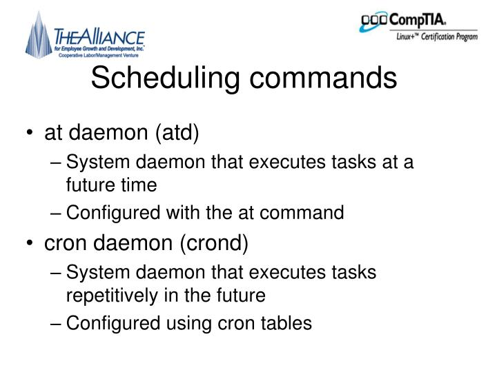 Scheduling commands