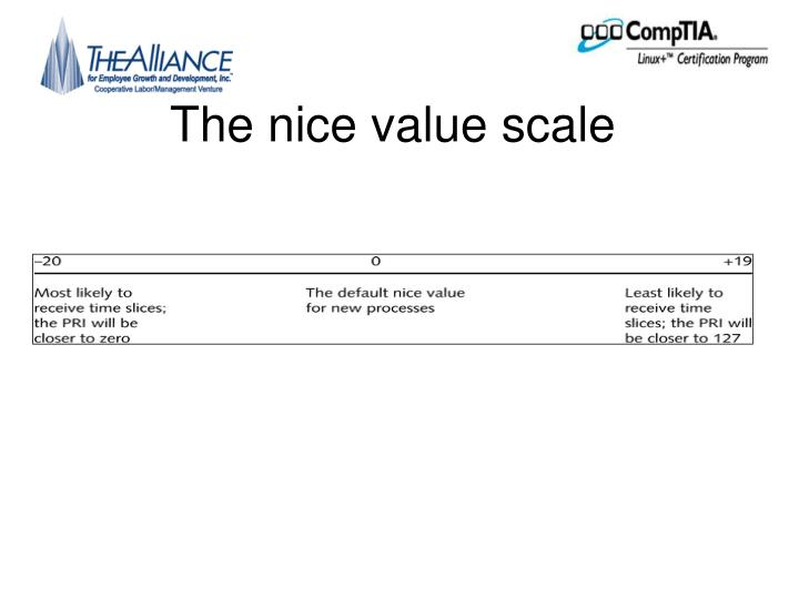 The nice value scale