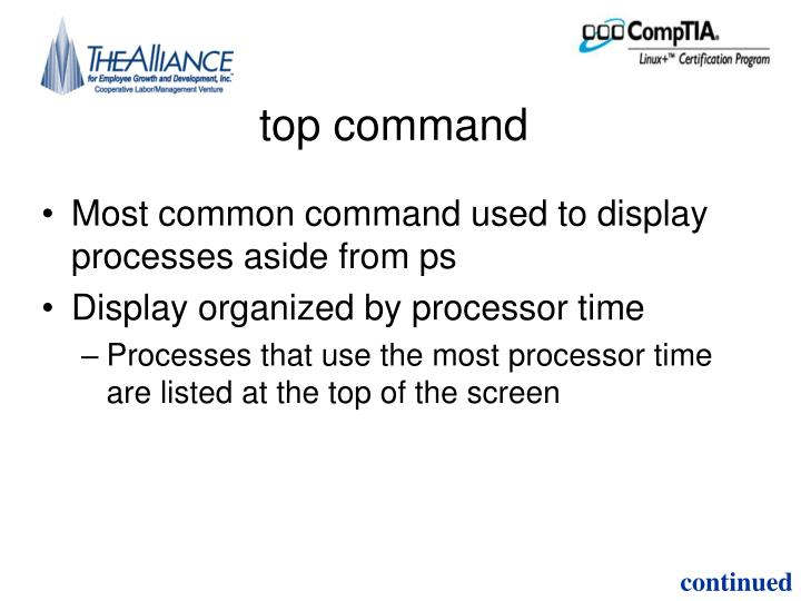 top command