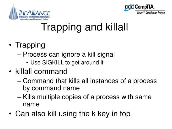 Trapping and killall