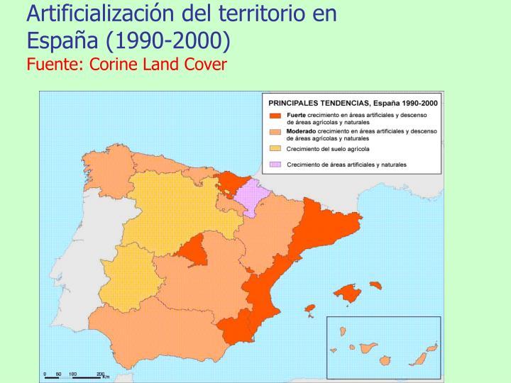 Artificialización del territorio en