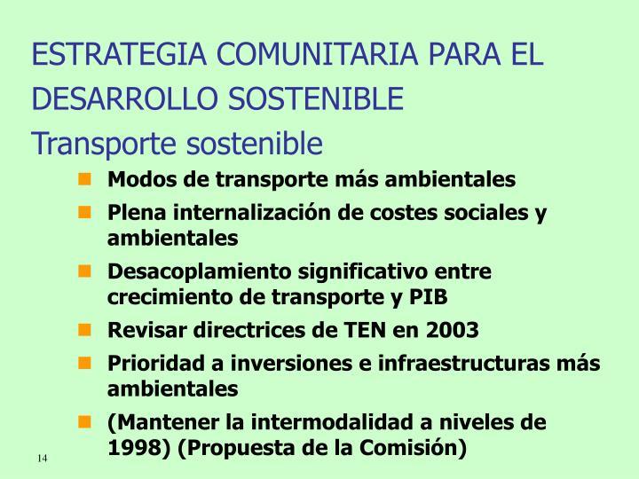 ESTRATEGIA COMUNITARIA PARA EL DESARROLLO SOSTENIBLE