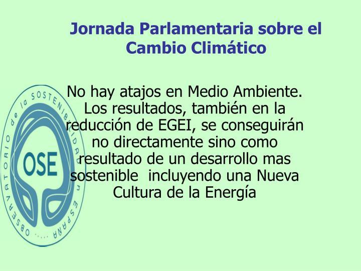 Jornada Parlamentaria sobre el Cambio Climático