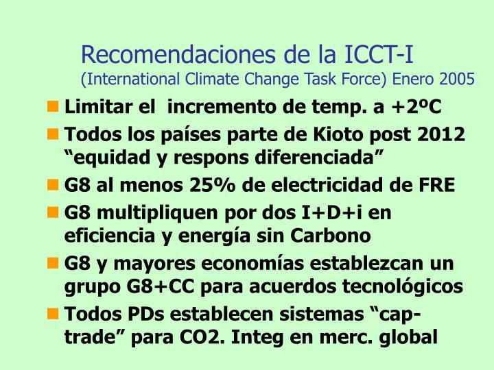 Recomendaciones de la ICCT-I