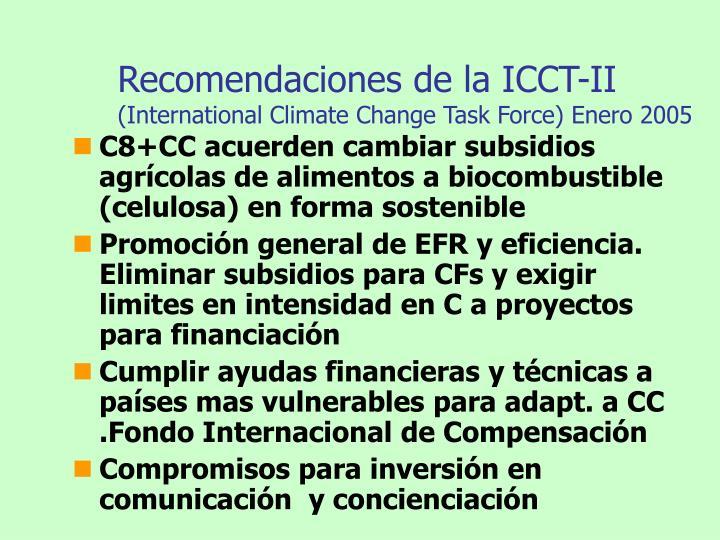 Recomendaciones de la ICCT-II