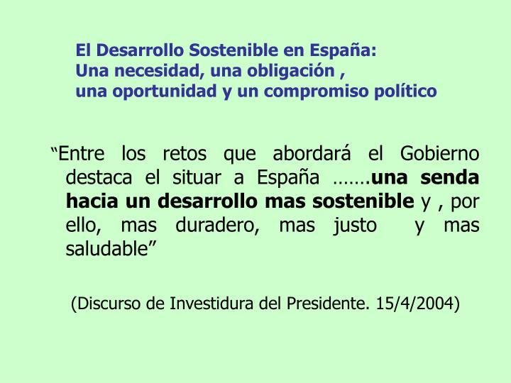 El Desarrollo Sostenible en España: