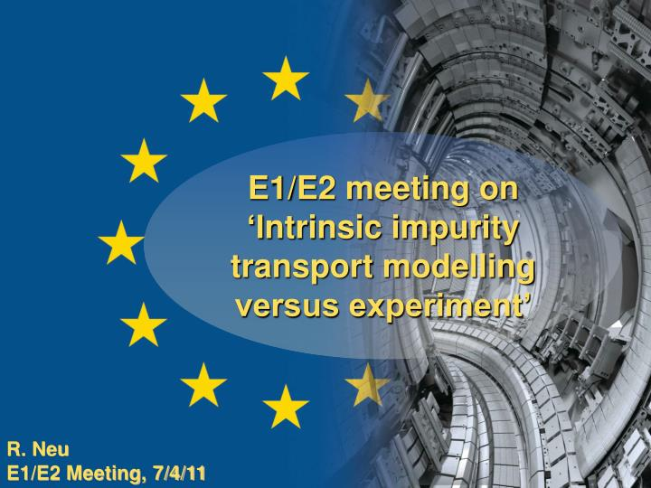 E1/E2 meeting on 'I
