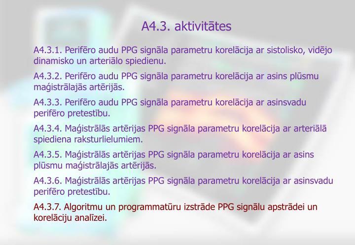 A4.3. aktivitātes
