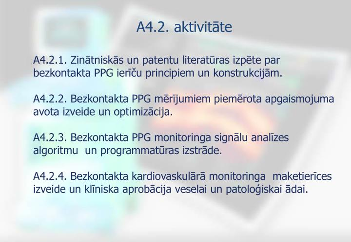 A4.2. aktivitāte