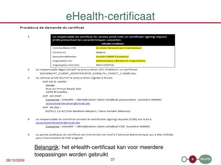 eHealth-certificaat
