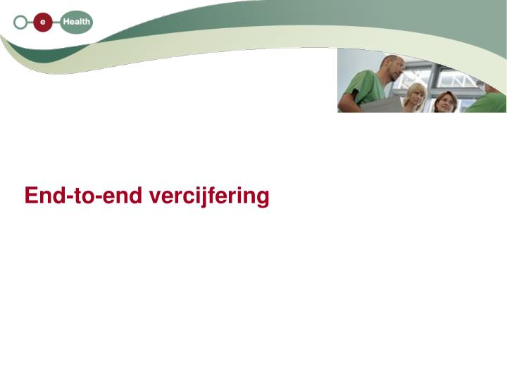 End-to-end vercijfering