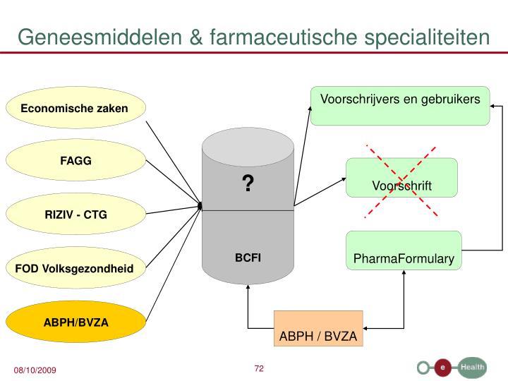 Geneesmiddelen & farmaceutische specialiteiten