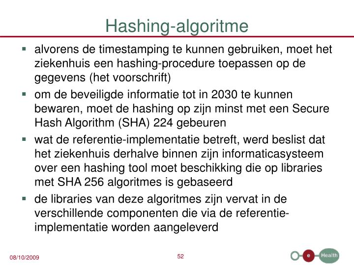 Hashing-algoritme