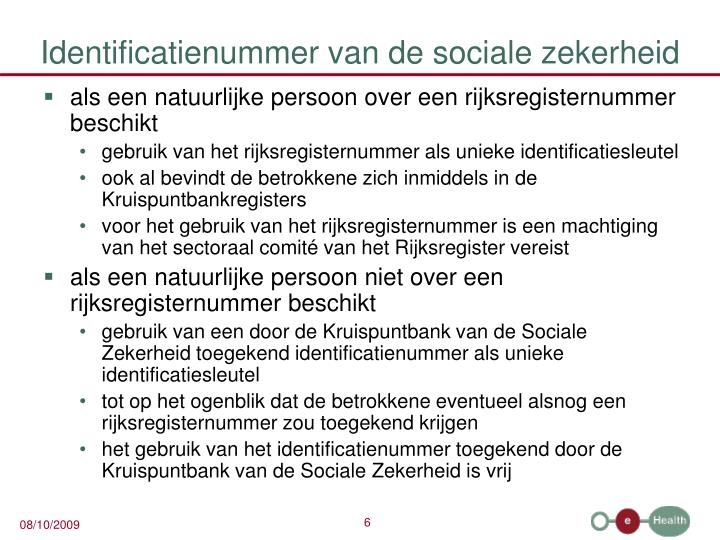 Identificatienummer van de sociale zekerheid