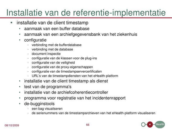 Installatie van de referentie-implementatie