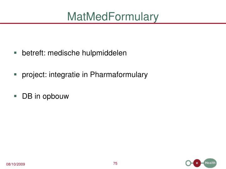 MatMedFormulary