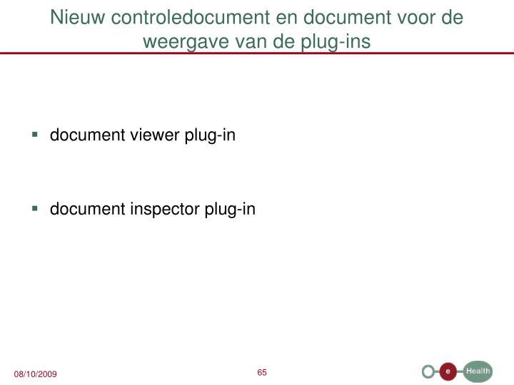 Nieuw controledocument en document voor de weergave van de plug-ins