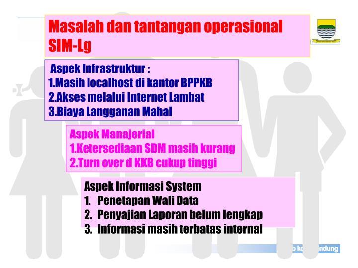 Masalah dan tantangan operasional SIM-Lg