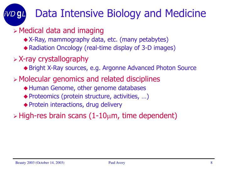Data Intensive Biology and Medicine