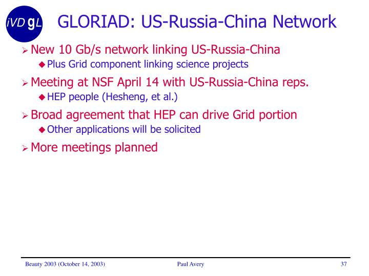 GLORIAD: US-Russia-China Network