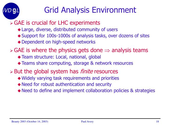 Grid Analysis Environment