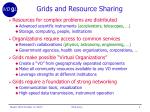 grids and resource sharing