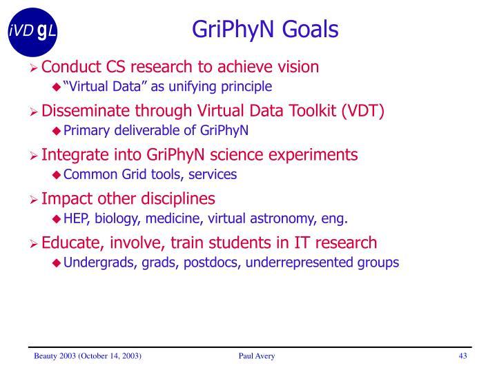 GriPhyN Goals