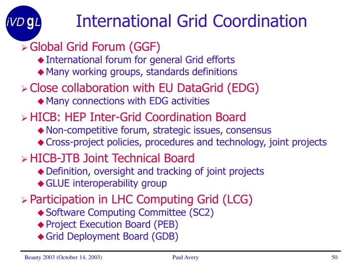 International Grid Coordination