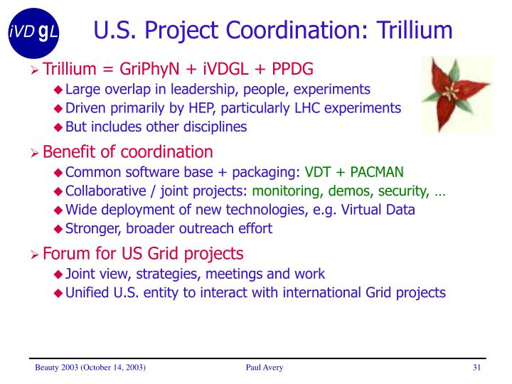 U.S. Project Coordination: Trillium